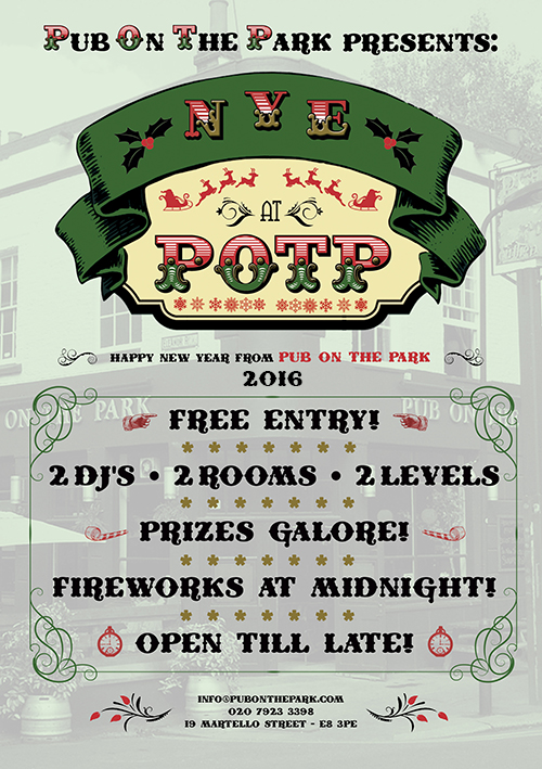 New Year's Eve at Pub On The Park